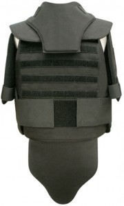 Full Black bullet proof vest